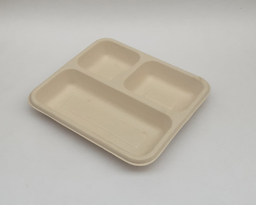 3 Portion Brown Mini Meal Tray