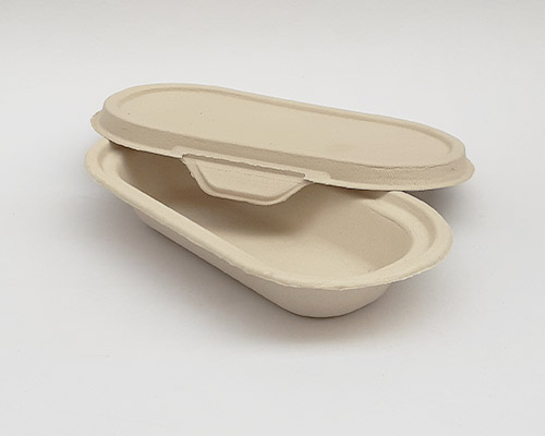 500 ml Brown Bagasse tray With Lid
