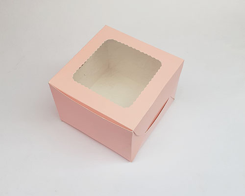 2 Pcs Window Pastry Box