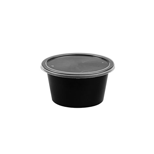100 ml Black Round Container